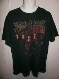 Vtg Cradle of Filth Shirt Death Metal Black Tour Concert Mens Sz XL