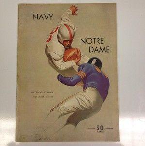 Notre Dame Football Program Ralph Guglielmi Frank Leahy Lattner