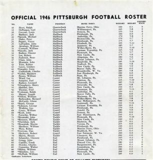 Pittsburgh v National Champion Notre Dame Football Program 1946