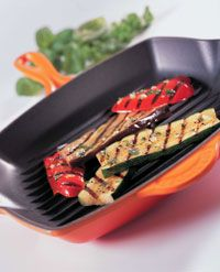 Le Creuset Enameled Cast Iron Skinny Grills Cherry and Flame Only