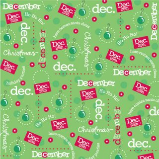 December Scrapbook Paper CI Month Calendar Collection