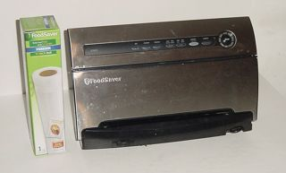 FoodSaver System V3825 Stainless Steel Food Vacuum Sealer