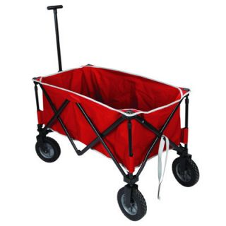 NEW Red Portable Folding Sports Wagon Utility Cart Garden Beach Cargo