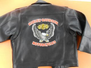 Harley Davidson Childs Faux Leather Jacket Size 6