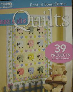 Fons & Porter Best of Baby & Kids Quilts Pattern Book, 180pgs