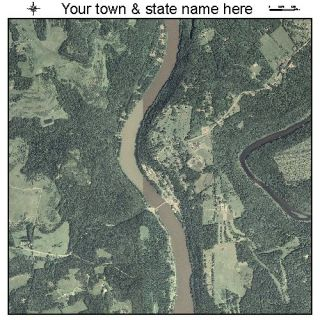 Foxburg Pennsylvania Aerial Photography Map PA Poster P