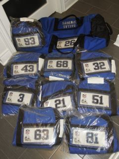 DALLAS COWBOYS NFL FOOTBALL TEAM EQUIPMENT TRAVEL BAG VARIOUS PLAYERS