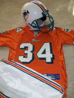 34 DOLPHINS SML JERSEY FRANKLIN YOUTH BOYS NEW FOOTBALL HELMET GREAT