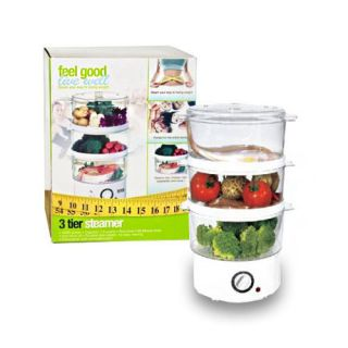 Tier Rapid Food Steamer Cooker for Vegetables Meat Rice and More