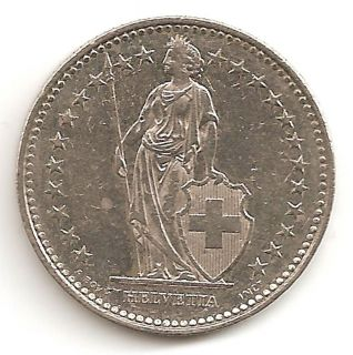 Switzerland 1 Franc 1993 Coin Helvetia