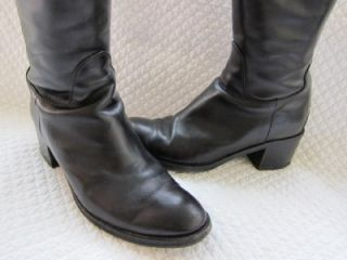 Fratelli Rossetti Italy Tall Blk Italian Riding Boot Leather Engineer