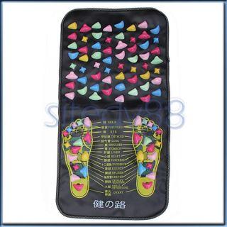 Foot Massage Body Muscle Stress Pain Relief Pebble Leg Massager Mat