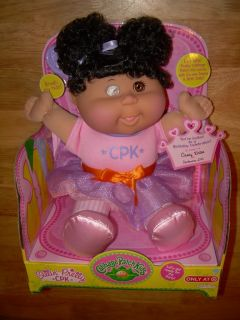 SITTIN PRETTY CPK Cabbage Patch Kids Doll w/ Black Hair & Brown Eyes