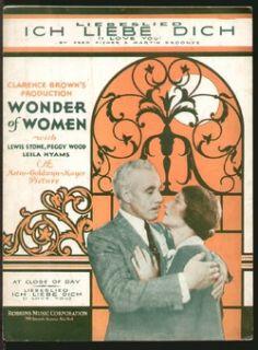 print wonder of women 1929 lewis stone ich liebe dich