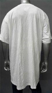 Foot Locker Mens Tall Cotton Basic T Shirt Sz 2XLT White Short Sleeve
