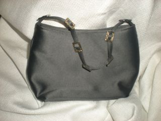 Franchi Satin Pewter Beaded Rhinestone Purse Handbag New Evening