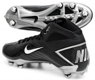 New Nike Super Speed D 3 4 Mens Football Cleats Black White