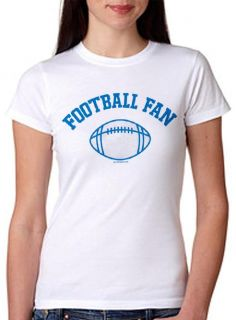 Football Fan Ladies Fitted White Tee Sizes s M L XL