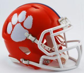 Clemson Tigers NCAA Revolution Speed Mini Football Helmet