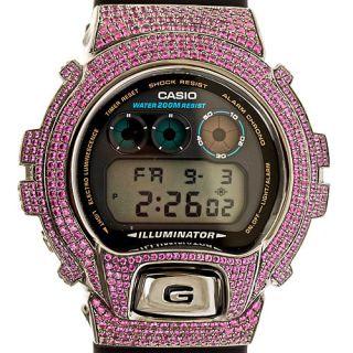 Bezel Purple Swarovski Crystal for Casio G Shock Watch DW6900