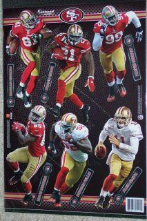 San Francisco 49ers Player Mini Fathead Official NFL Vinyl Wall