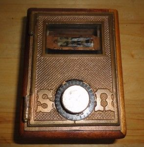 Vintage Antique Hand Crafted Safe Bank by Frank Stuart