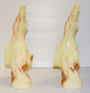 California Pottery Parrot Cockatoo Birds 10 Tall Figures
