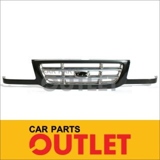 2001 2003 Ford Ranger Grille Grill Assembly Black Chrome XLT