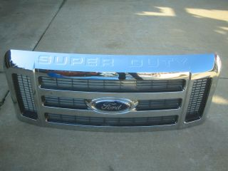 Ford F250 F350 F450 F Super Duty Front Chrome Grille 2009 2010