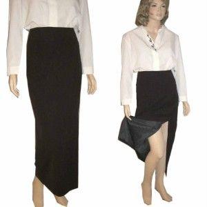 Chic Ann Freedberg $160 Wool Blend Long Skirt 6 Choclat