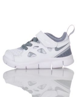Nike Free Run 2 Toddler Walking Running Shoes White Grey BRAND NEW IN