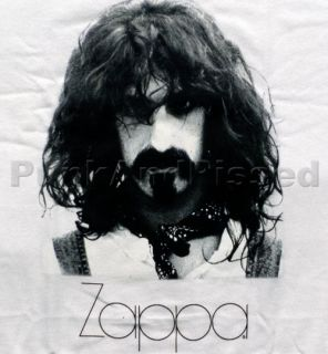 Frank Zappa   Zappa face photo   white t shirt   Official   FAST SHIP