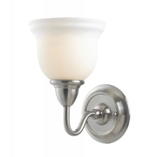 Belle Foret BF8381 02 Montpellier One Light Wall Sconce Satin Nickel