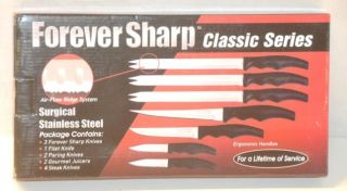 Forever Sharp 12 Piece Surgical Stainless Steel Kitchen Cutlery