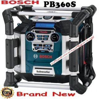 Bosch   Power Box Jobsite AM/FM Radio &    PB360S   NOT