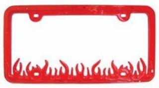 Flame Frame Red LED Flash Pattern License Plate RLPF200