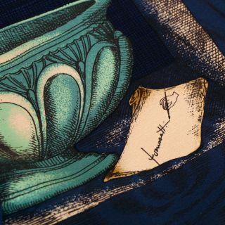 Original Piero Fornasetti Silk Scarves Foulard 1st Triennale Milano