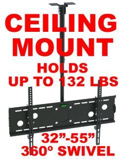 Plasma Flat Screen TV Ceiling Mount Tilt 32 55 inch bracket hdtv panel