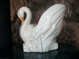 McCoy SWAN BIRD PLANTER POT VASE ART POTTERY