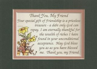 Friendship Treasure Friends Bless Verses Poems Plaques