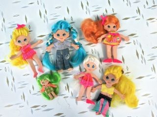 Ideal Toys RUBBER FLATSY DOLLS LOT 6 Includes one MINI FLATSY DOLL