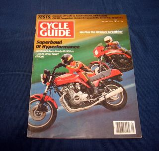 Cycle Guide May 1982 Kawasaki GPz1100 vs Suzuki GS1100 E BMWR100RT