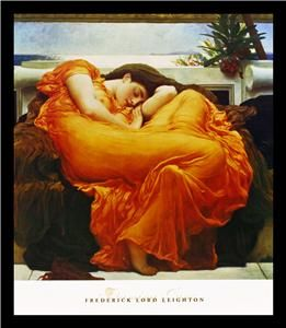 Flaming JuneWoman Art Framed Print Frederick Leighton