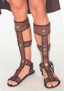 Adult Roman Gladiator Sandals Shoes Medieval Viking Egyptian Costume