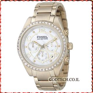 New in Box Fossil Womens Chronograph Classic Watch CH2550