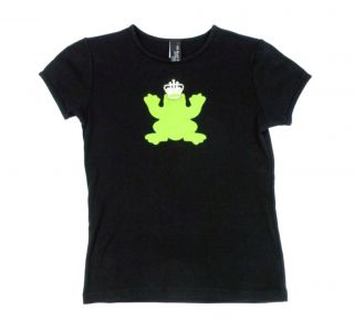 My Flat in London Frog Prince Rhinestone T Shirt Top Womens s Small