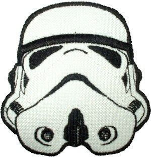 Star Wars Clone Trooper Helmet Embroidered Patch Vader