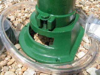 GARDEN FOUNTAIN COMPLETE Set Cast Iron Water Well Pump Green