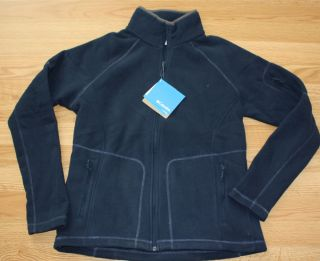 Womens Columbia Blue Fleece Fast Trek II Full Zip Jacket Size Small S