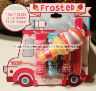 Lip Balm Gloss Set Frosted Tutti Fruity Lip Swirl Carded 3 4
